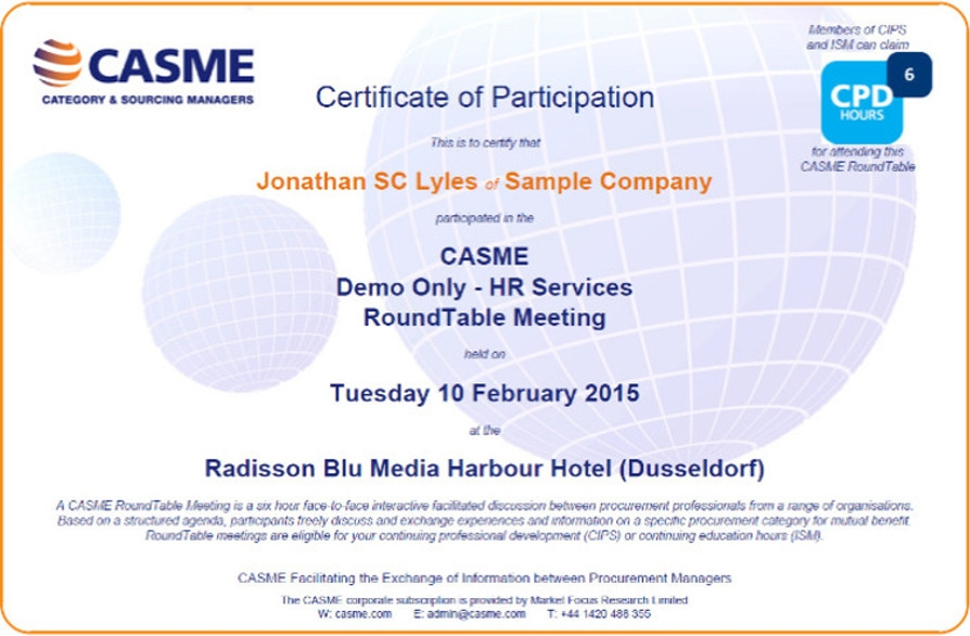 Casme Announces Agreement With Institute Of Supply Management Casme